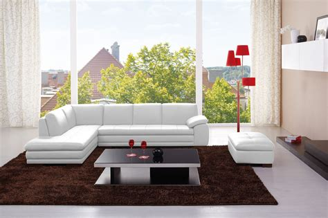 Left Facing Chaise Sectional 625 Italian Leather Modern Sectional Sofa