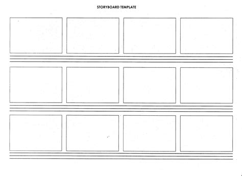 sotryboard template a2 media sle storyboard and script