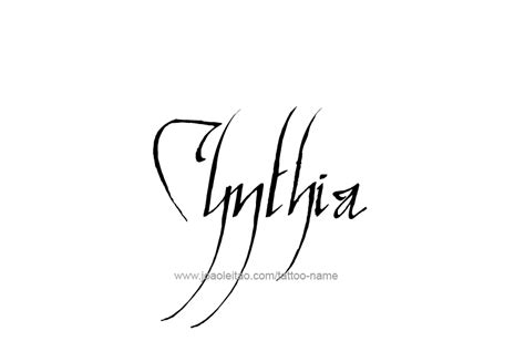 cynthia tattoo cynthia name designs