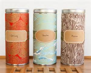 Beautiful Kitchen Canisters diy japanese washi tea tins thirsty for tea