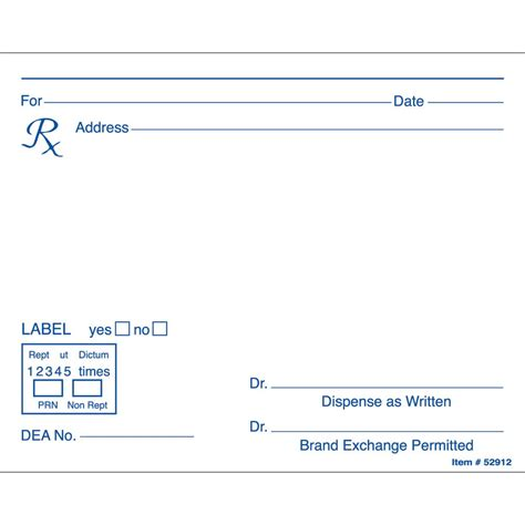 prescription form template word prescription pad template microsoft word www pixshark