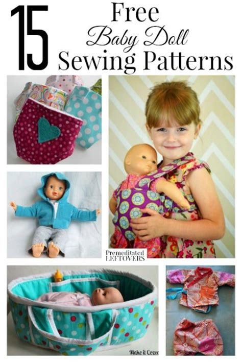 free sewing pattern gift ideas 15 free baby doll sewing patterns