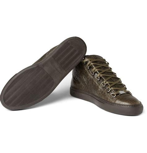 balenciaga sneakers balenciaga leather mid top sneakers sneaker cabinet