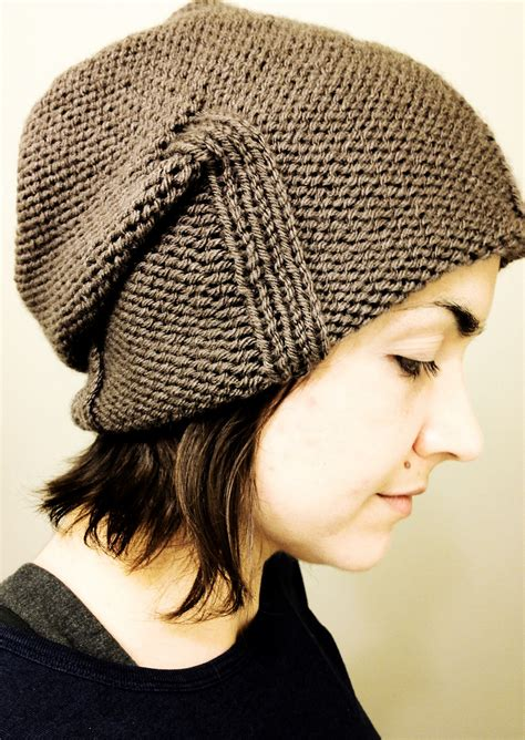 beanie knit hat pattern slouchy beanie knitting patterns in the loop knitting