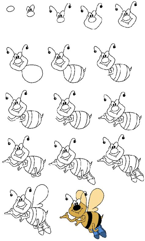 how to draw a doodle monkey как рисовать пчелу