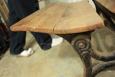 Refinishing School Desk by Refinishing An Antique Schooldesk Coffee The Umbrella