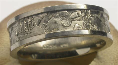 Wedding Bands Colorado by Michael Drechsler Jewelry Ltd Colorado Wildlife Wedding