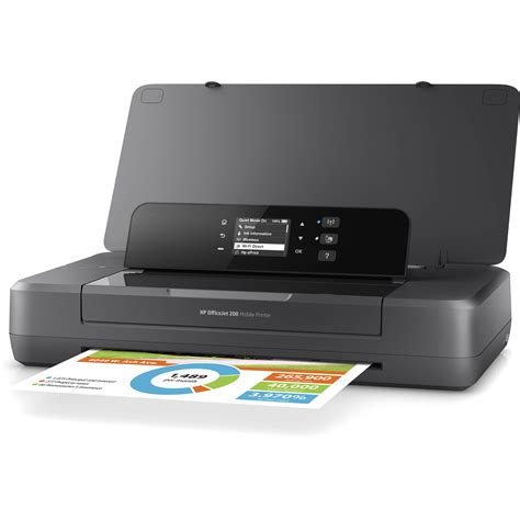 Priinter Portable Hp Mobile All In One Printer Officejet Oj 250 Resmi hp officejet 200 mobile inkjet printer cz993a b1h b h photo