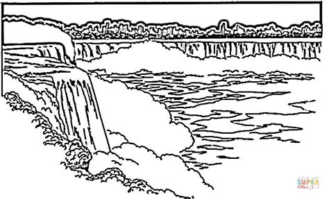 waterfall coloring pages niagara falls coloring page free printable coloring pages