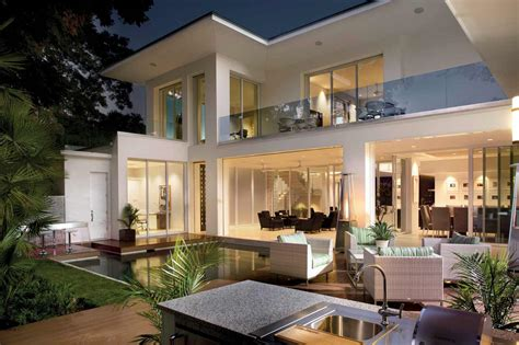 modern house backyard outdoor spaces enhance entertaining phil kean design group