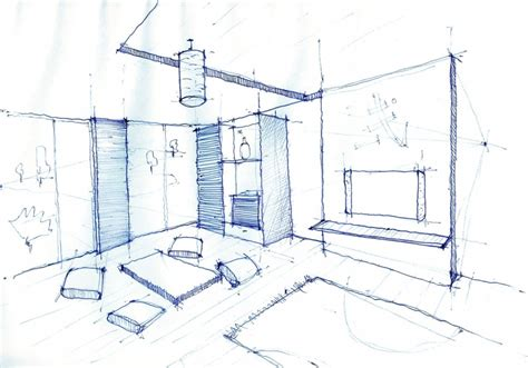 Sketch Interior Design Interior Design Drawing Living Room Pen Sketch Arch