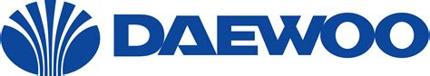 a logo with a daewoo logos