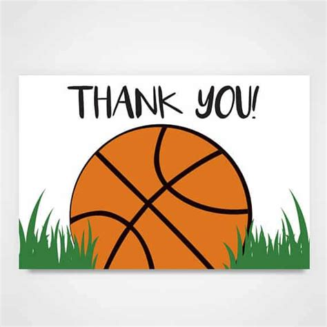 printable thank you cards basketball anchoredscraps com letter writing blog postings daily by