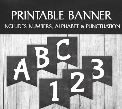 free printable chalkboard banner numbers printable chalkboard banner alphabet bunting for birthdays
