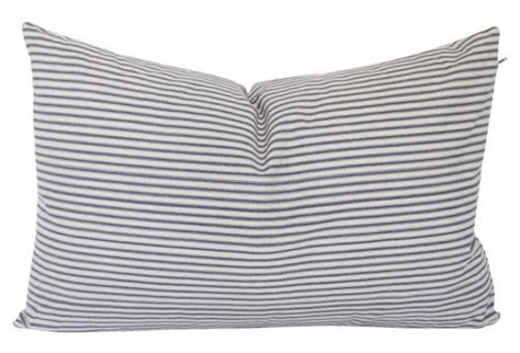 Ticking Stripe Pillow by Ticking Blue Stripe Pillow Omero Home