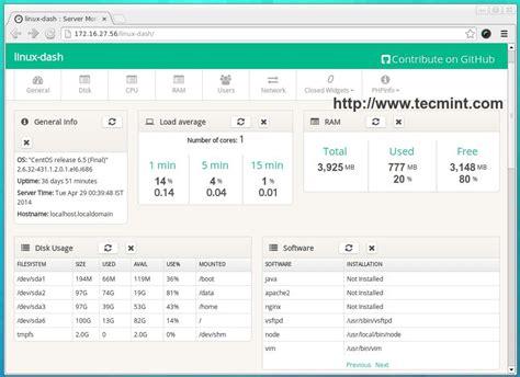 linux pattern webserver linux dash monitors quot linux server performance quot remotely