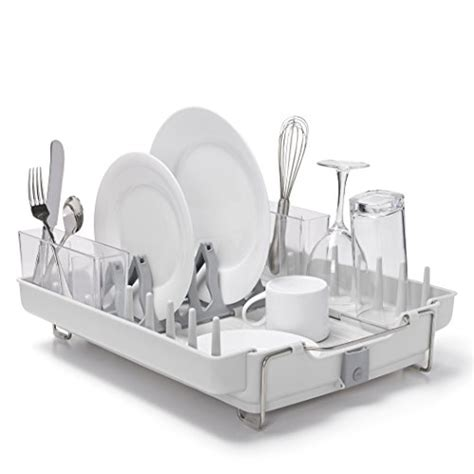 Oxo Grips Folding Stainless Steel Dish Rack by Oxo Grips Convertible Foldaway Dish Rack Stainless