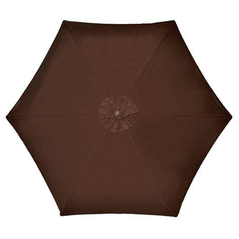 Hampton Bay 9 ft. Aluminum Market Patio Umbrella in Brown