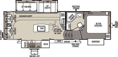 flagstaff fifth wheel floor plans flagstaff classic super lite fifth wheels floor plans by