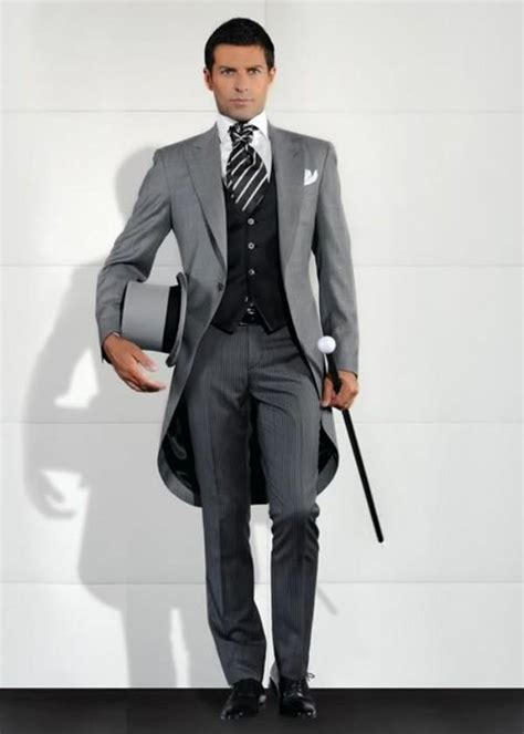 Custom Made Mens Wedding Tuxedos Morning Suits Groom Best