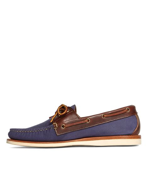 rancourt boat shoes lyst brothers rancourt co waxed canvas boat
