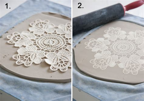 How To Make Paper Clay At Home - make your own lace pottery