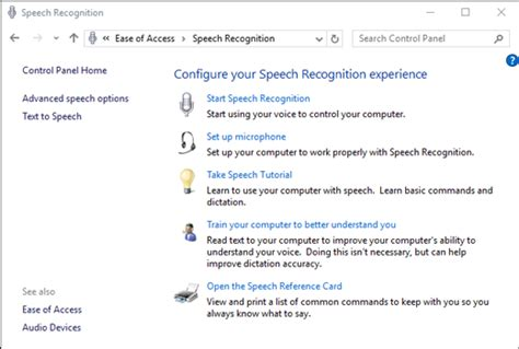 windows 10 speech tutorial use speech recognition
