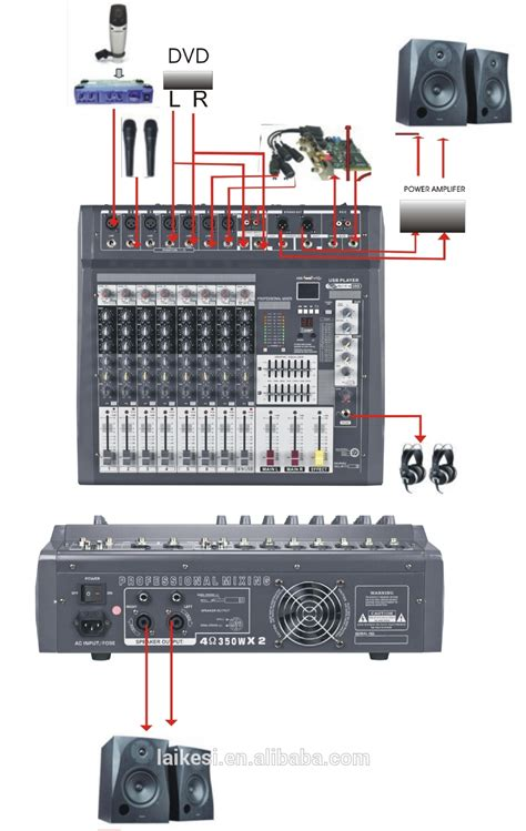 Mixer Audio Black Spider 12 Ch mx806d usb 8 channel mixerlifier audio mixer 300w view