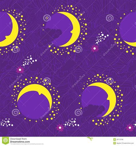 magic waves pattern moon fairy tale purple pattern royalty free stock image