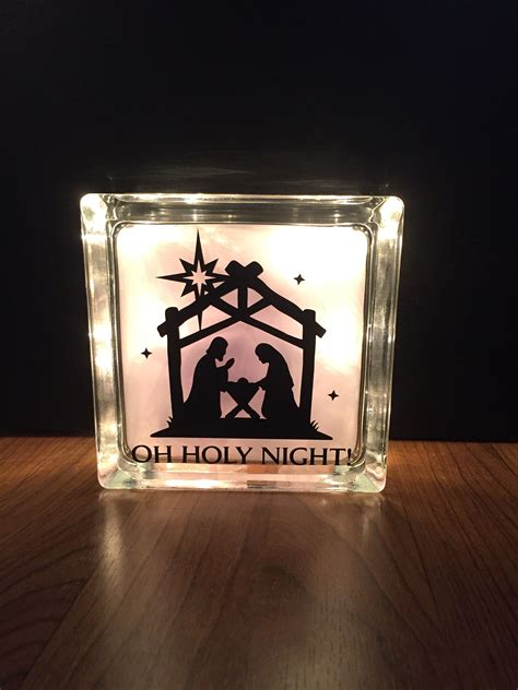 lighted glass block createfully yours