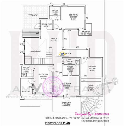 home floor plans 2800 square feet modern 4 bhk house plan in 2800 sq feet home kerala plans