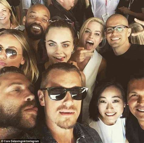 Margot Robbie Posts Suicide Squad Selfie With Will Smith And Cara Delevingne At Comic Con