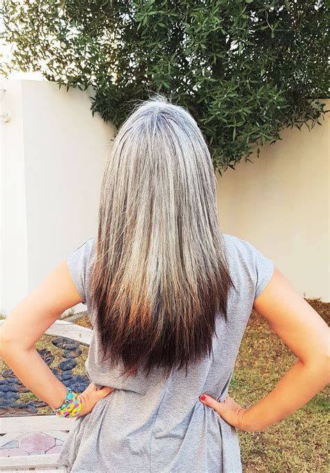 salt n pepper hair color transition to gray hair silver hair white hair salt and