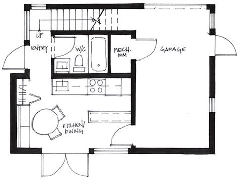Small House Floor Plans 500 Sq Ft Living In 500 Square Foot Small House By Smallworks