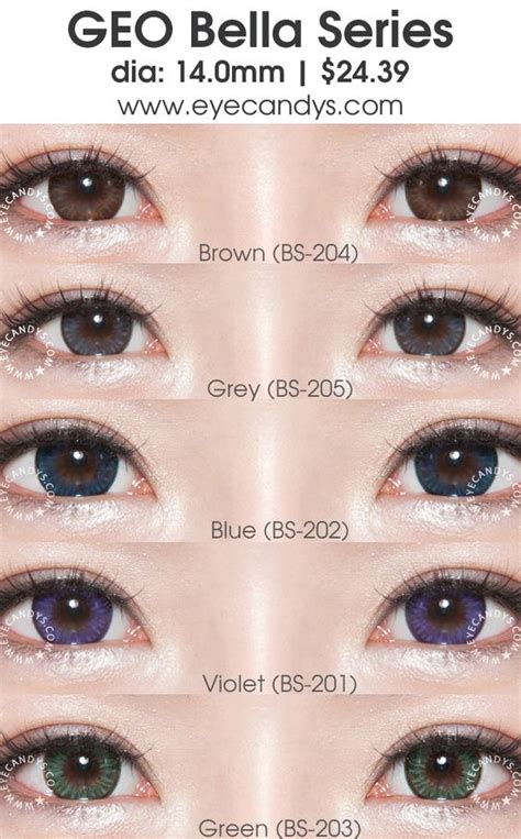 geo bella grey circle lenses colored contacts geo bella series circle lens colored contact lenses