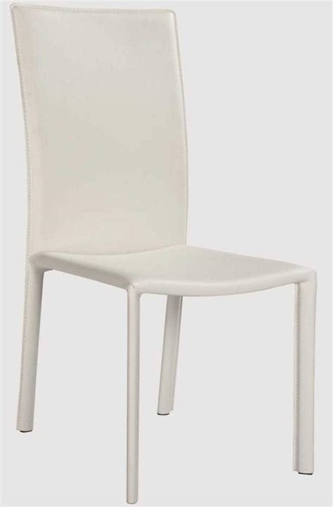 White Upholstered Chairs by Fully Upholstered White Leather Chairs With Contoured