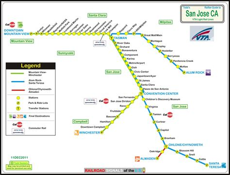 vta light rail map los angeles ca light and heavy rail systems