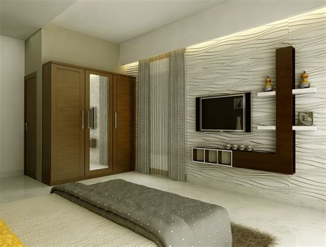 modern lcd cabinet and wardrobe design for bedroom id974