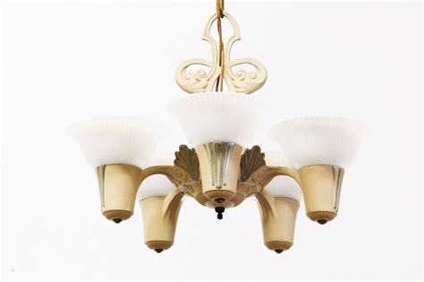 frosted glass chandelier vintage chandelier w frosted glass shades vintage