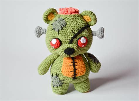 cute zombie pattern crochet pattern frankie the zombie teddy bear by krawka