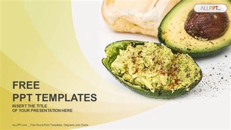 Halved Avocados Powerpoint Templates Recipe Powerpoint Template