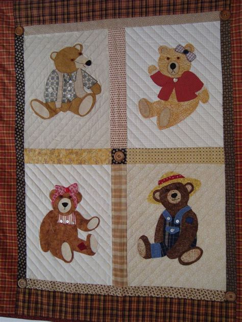 Patchwork Teddy Pattern - 51 best images about teddy quilts on