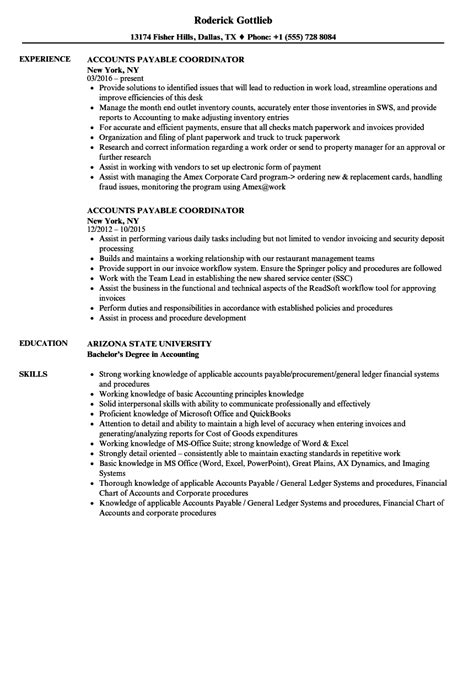 Accounts Payable Description Resume