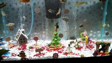 cute christmas fish tank fish pinterest