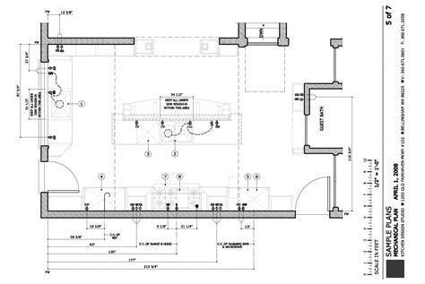 mechanical floor plan construction plans kitchen design studio