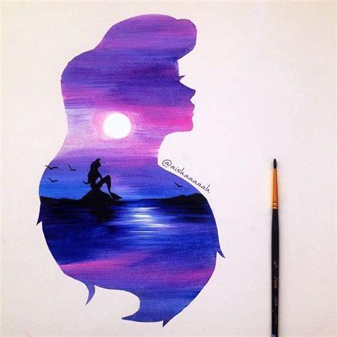 Girls Purple Bedroom - best 25 little mermaid painting ideas on pinterest