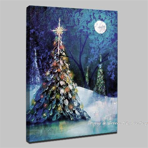 christmas canvas painting ideas christmas decore handpainted christmas tree modern oil paintings on canvas