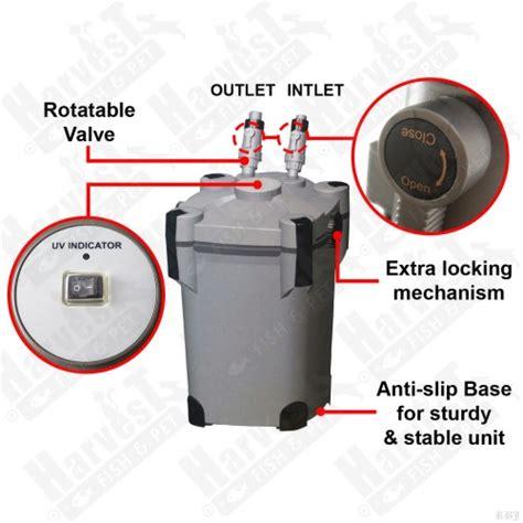 External Filter Resun Ef 2800u Ultraviolet Builtin resun ef 2800u 4 layer canister filter with uv 2800 l h