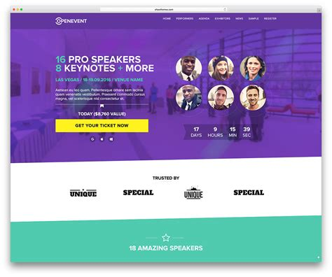 seminar themes exles 30 awesome wordpress themes for conference and event 2018