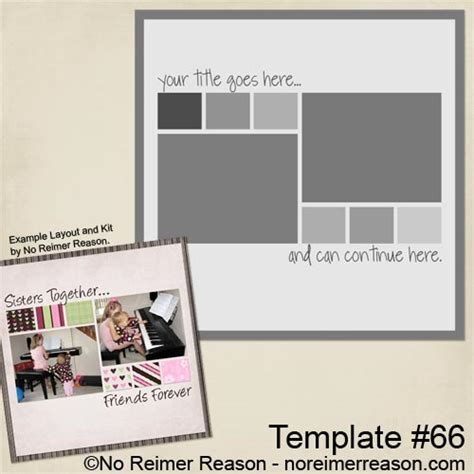 free digital scrapbook template 66 no reimer reason